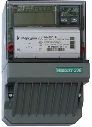 Электросчетчик Меркурий 230 AR-01 CL 5(60)А/400В трехфазный, однотарифный, PLC-модем, фото 2