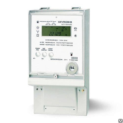 Электросчётчик СЭТ-4ТМ.03М.01, 3ф., многофунк., 3*(57,7-115)/(100-200), 5(10), фото 1