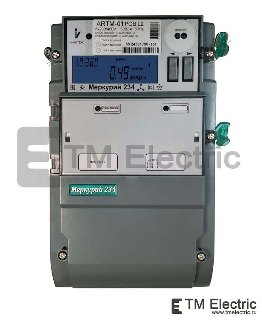 Электросчетчик Меркурий 234 ARTM-01 POB.G 5(60)А/400В трехфазный, многотарифный, GSM-модем, фото 1
